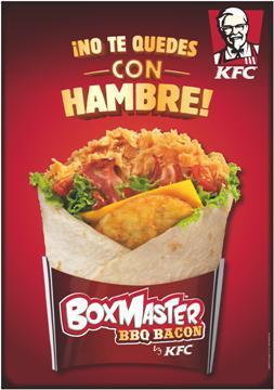 KFC presenta el nuevo producto Boxmaster BBQ Bacón en la ...
