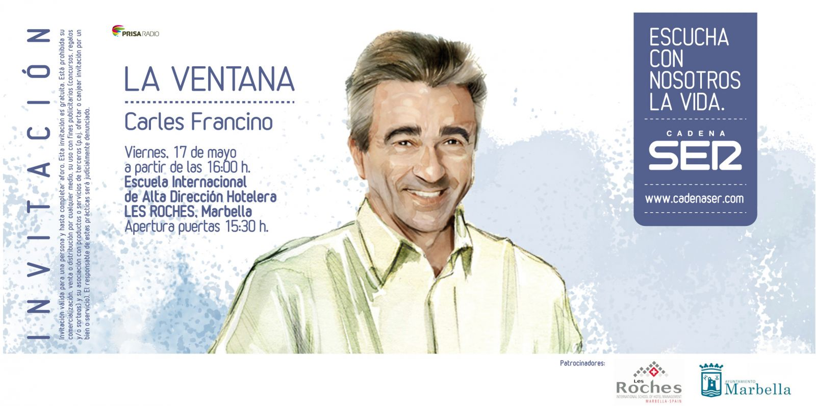 Les roches marbella anfitriona del programa notas de prensa for Cadena ser francino