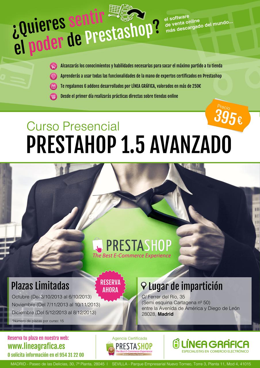 Cursos de Prestashop 1.5. L?nea Gr?fica, empresa certificada lanza 2 cursos presenciales de Prestashop 1.5