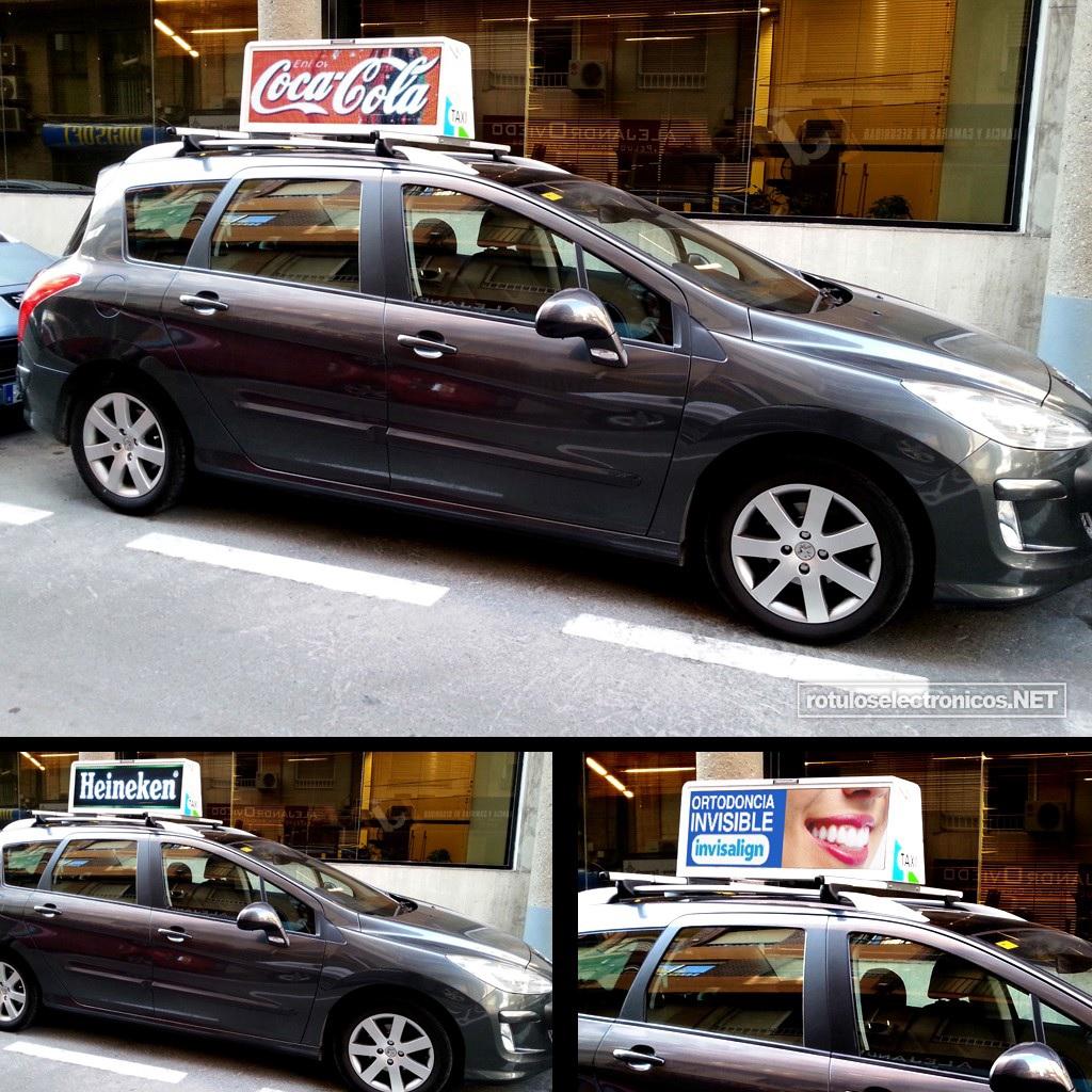Fotografia Taxi con pantalla de leds de alta definici  243 nFotografia Publicitaria Definicion
