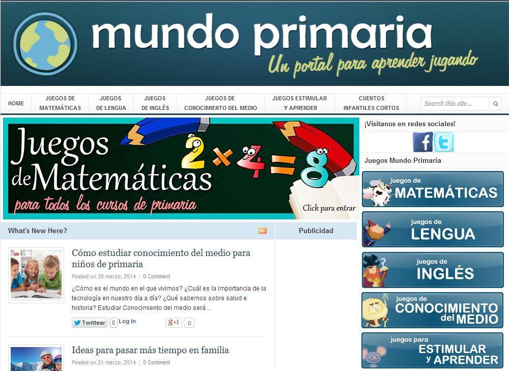 Nueva plataforma digital con juegos educativos para alumnos de primaria