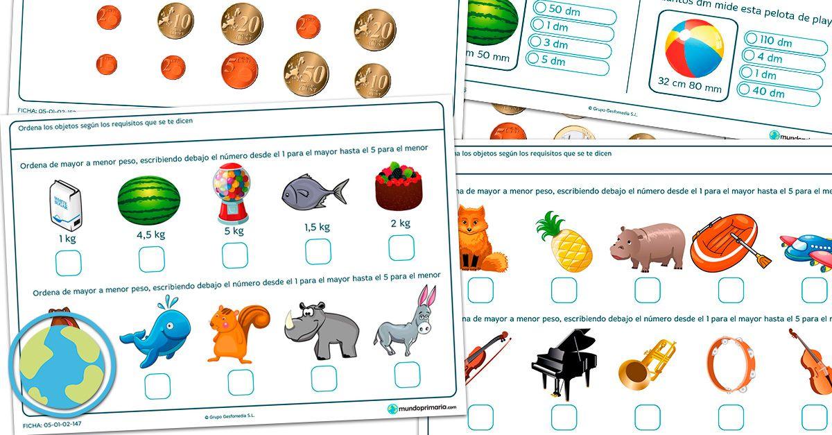 Plataforma educativa con fichasgratuitas de primaria para imprimir