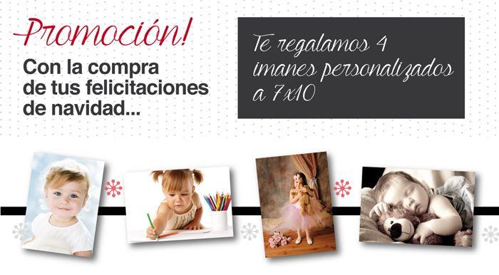 Printem.net regala cuatro imanes personalizados con tus fotos favoritas al comprar felicitaciones de Navidad