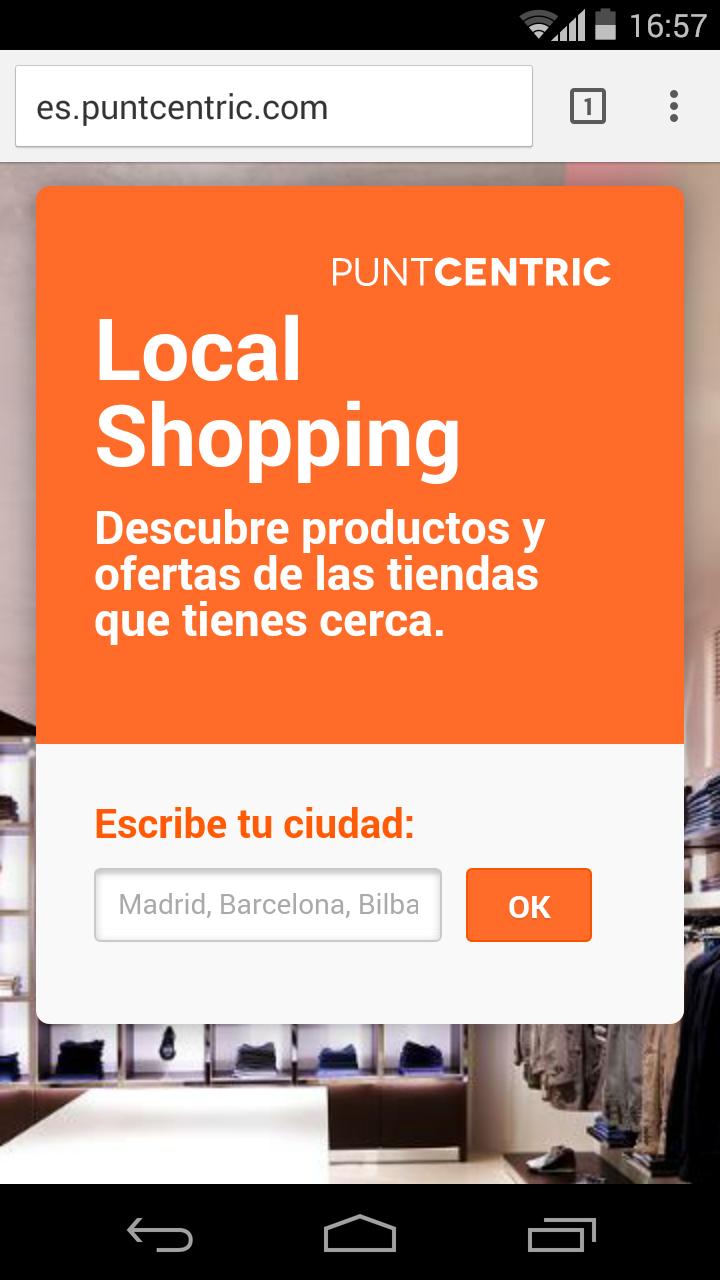 Puntcentric.com permite descubrir productos y ofertas de las tiendas cercanas
