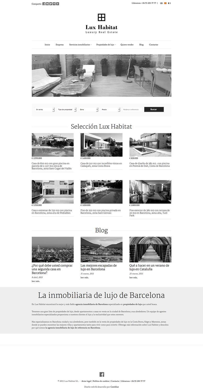 Lanzamiento nueva web Lux Habitat