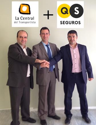 Acuerdo entre La Central del Transportista y Seguros QS