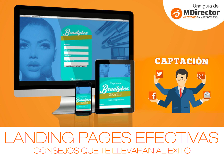 Whitepaper Landing Pages de MDirector: los secretos para captar leads