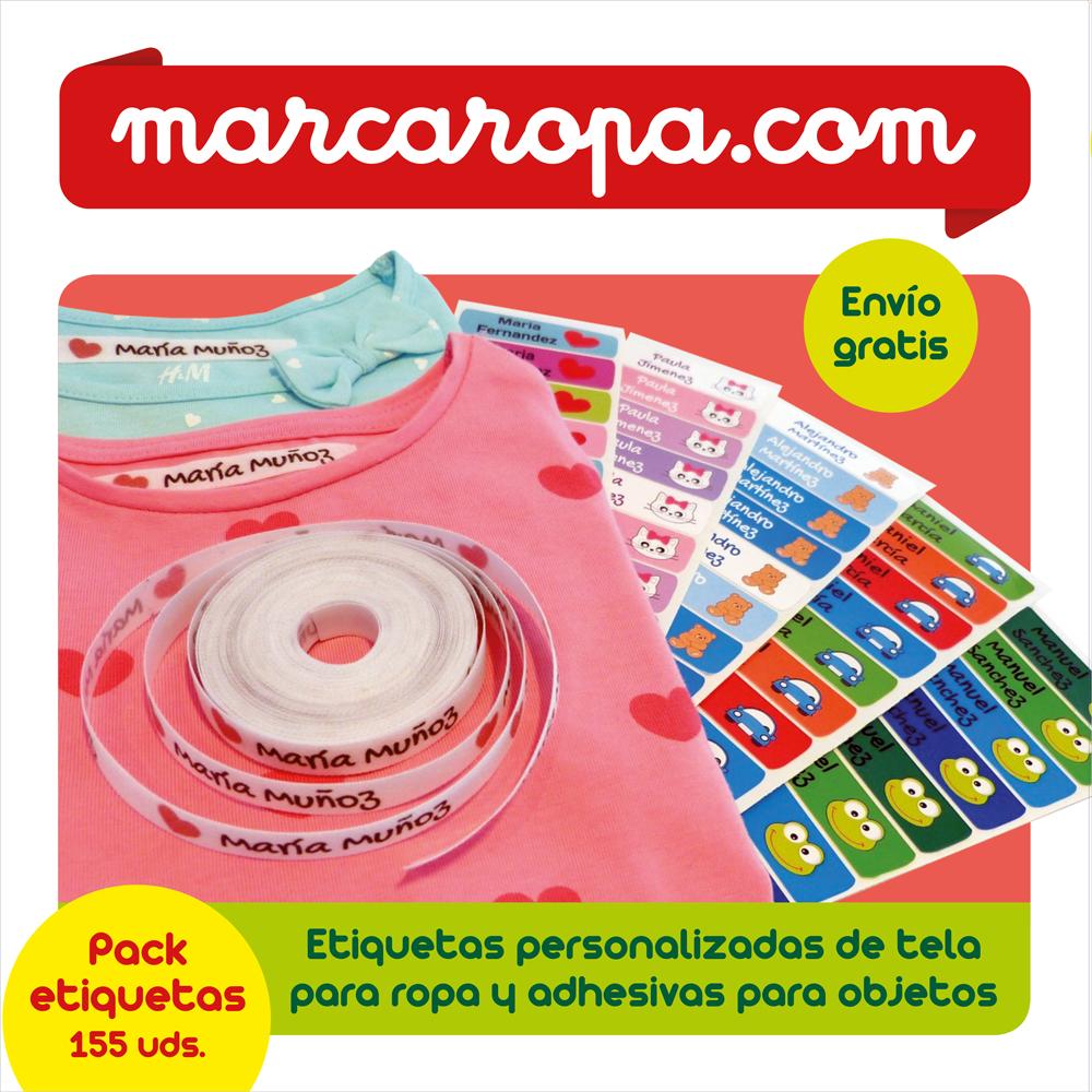 Marcaropa.com lanza un nuevo pack de 155 etiquetas personalizadas para ropa y objetos