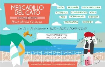 Cartel Mercadillo del Gato San Sebastián