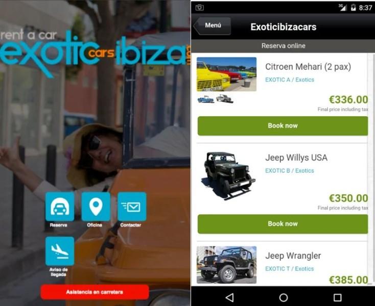Exoticibizacars lanza una nueva App para el alquiler de coches en Ibiza