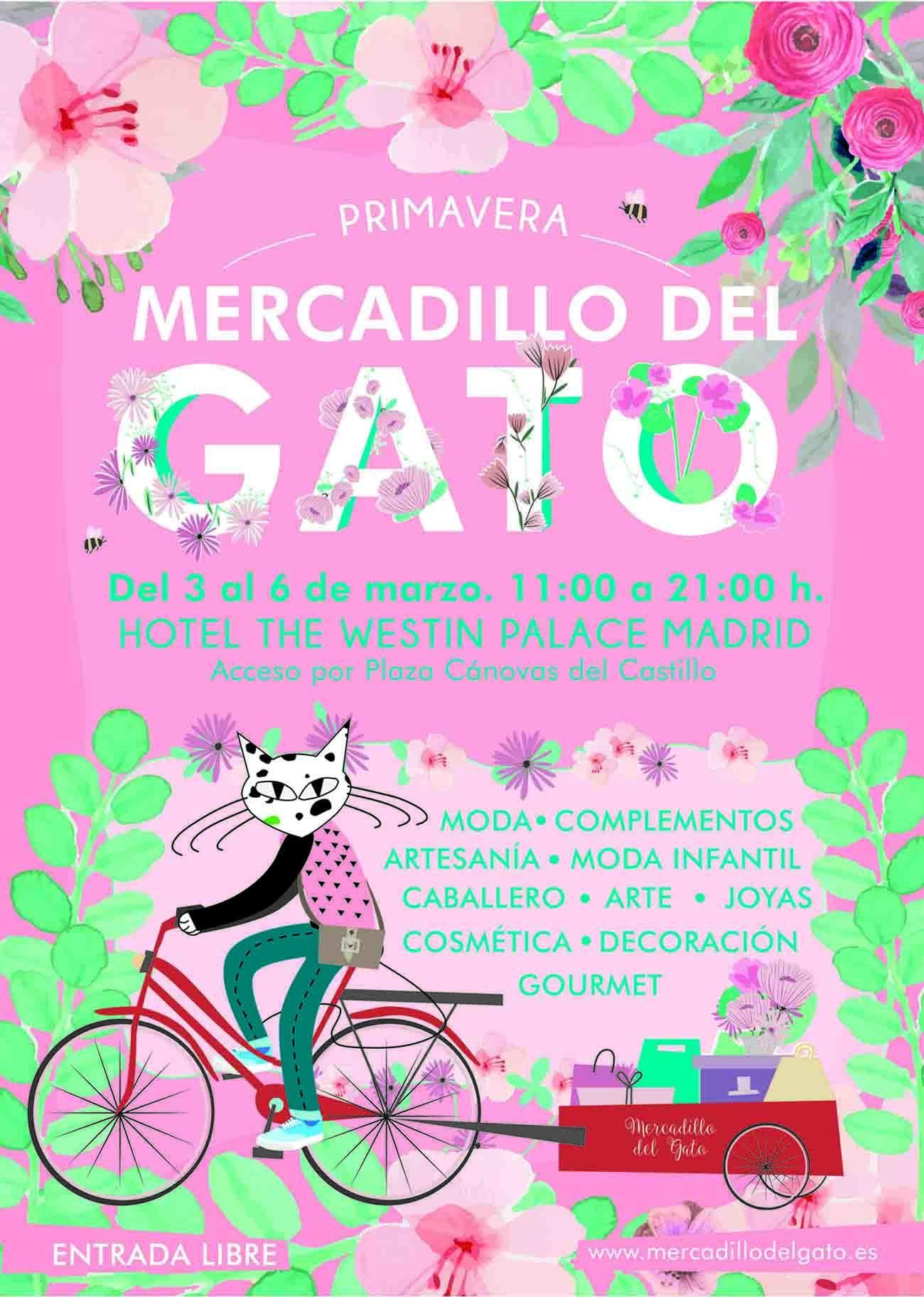 El mercadillo del gato abre del 3 al 6 de marzo en el Hotel Palace Madrid