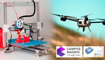 EXES con Google Campus  Impresión 3D al servicio de los Drones