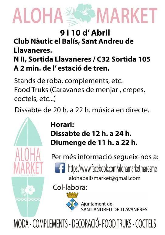 Nueva edici n de aloha market este 9 y 10 de abril en - Tiempo llavaneres ...