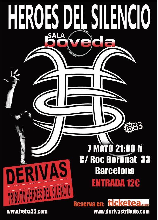Tributo a Heroes del Silencio este 7 de mayo en Barcelona
