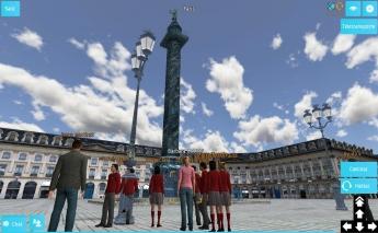 Alumnos del Colegio Almedina visitan la plaza Vendome en Paris