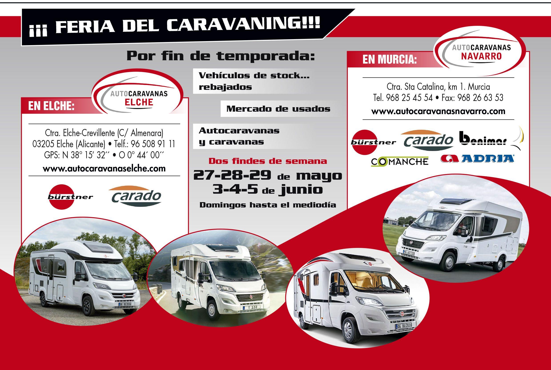 Feria del Caravaning en Murcia y Elche