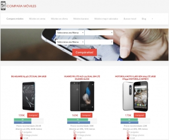 Página de Inicio de ComparaMoviles.es