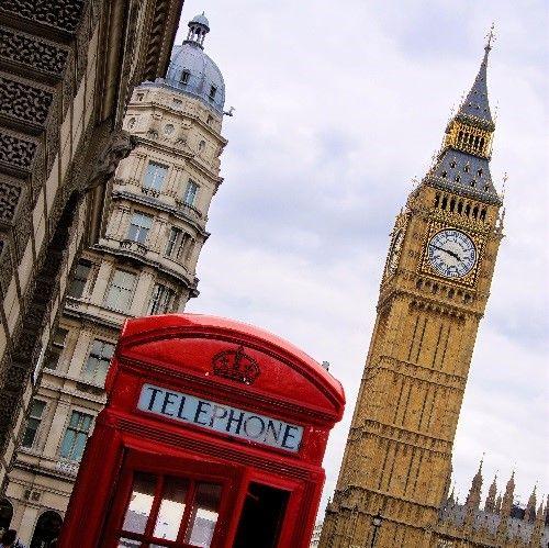 Fotografia Una cabina telefónica y el Big Ben de Londres