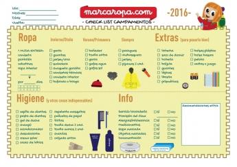 Check-list campamentos marcaropa.com