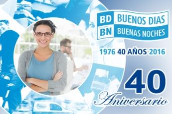 40 Años de Servicios 24 horas