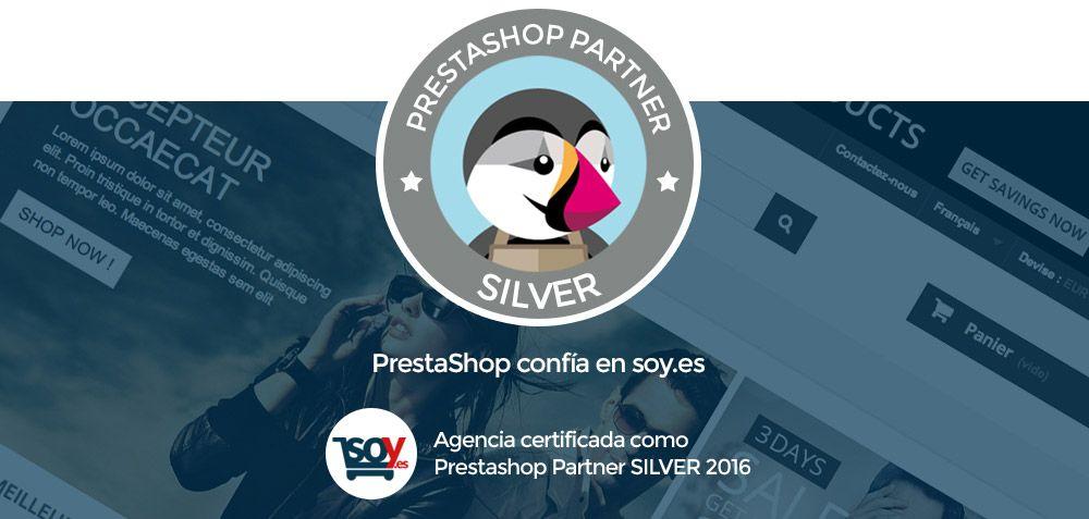 Soy.es, galardonada con el certificado Agencia Silver PrestaShop