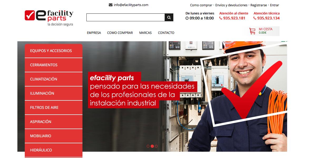 Todas las compras de suministros industriales a un clic, en efacility parts