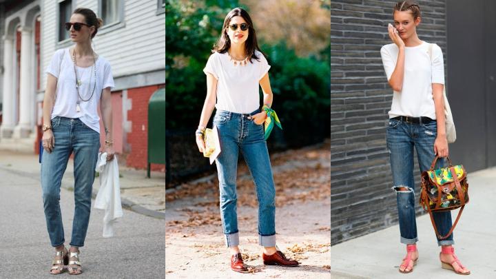 Trucos para vestir camisetas básicas blancas