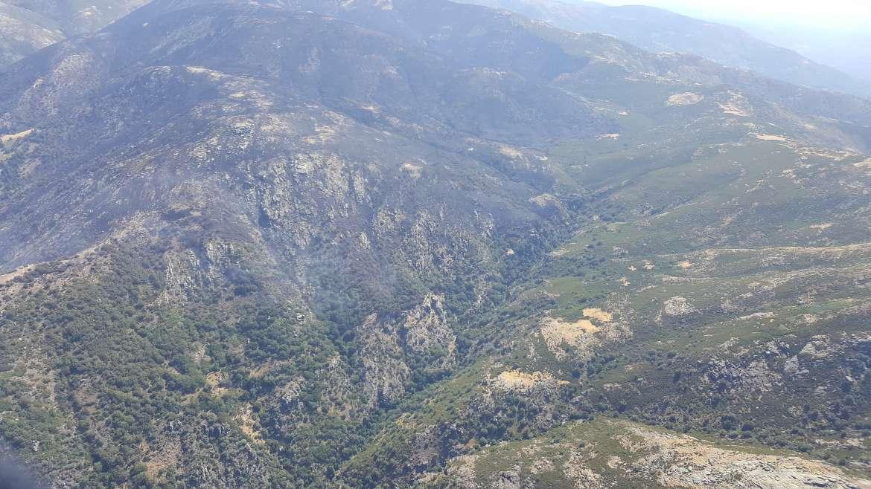 El incendio de la Garganta de los Infiernos, en Extremadura, reactivado