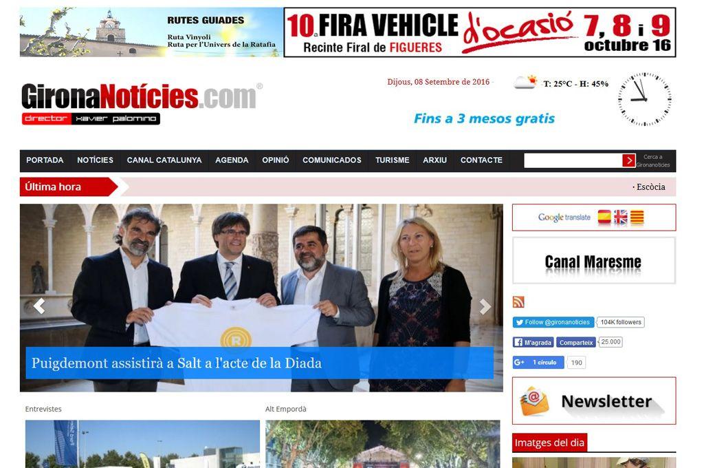 Empresas: GironaNoticies.com cumple once años en plena evolución | Autor del artículo: Finanzas.com