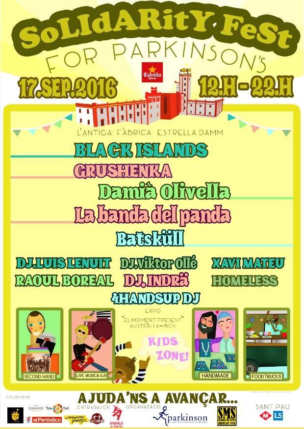 Solidarity Fest For Parkinson: festival solidario en Barcelona el 17 de septiembre