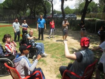 Jovenes con discapacidad en contacto con el ocio y la naturaleza