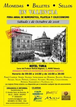 Valencia acogerá el próximo sábado la feria anual de numismática, filatelia y coleccionismo