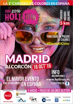Cartel Holi Run Madrid