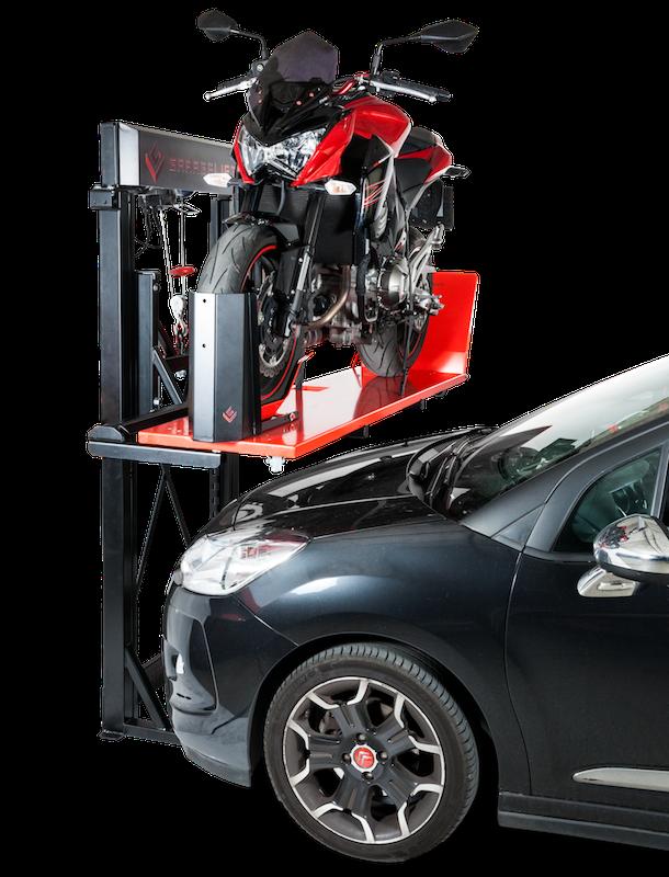GarageLift, el elevador de motos que soluciona los problemas de espacio en el garaje