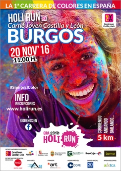 Cartel Holi Run Burgos