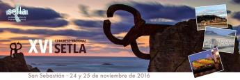 Cartel del XVI Congreso Nacional Setla, Sociedad Española de Traumatología Laboral.