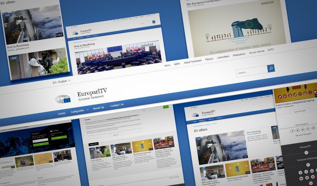 Estreno de la nueva Web TV del Parlamento Europeo