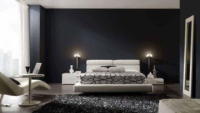 Fotografia dormitorio en blanco, negro y grises