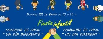 Cartel de la Fiesta Infantil 'Convivir es fácil'