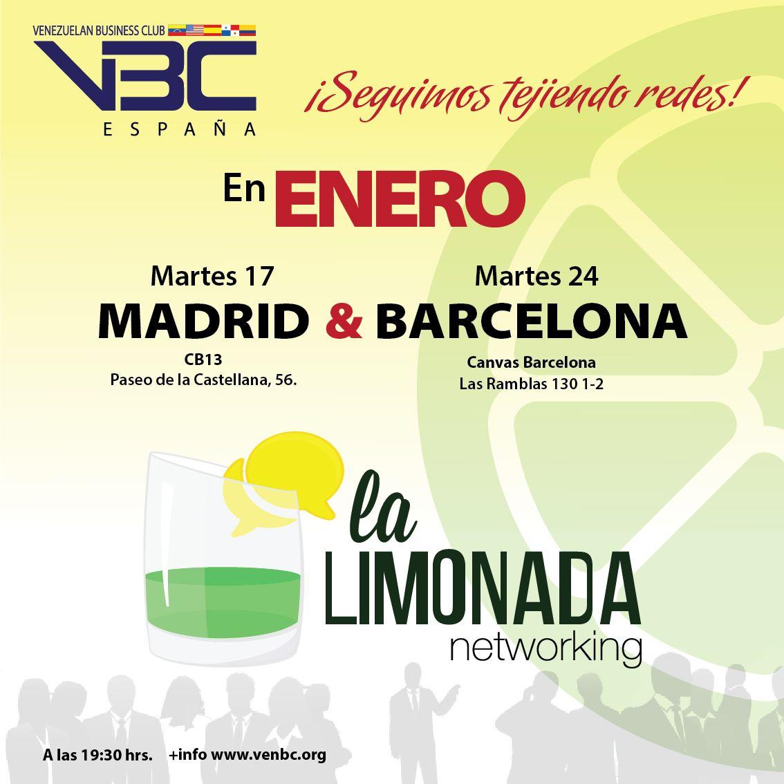 Empresas: El Venezuelan Business Club invita a la primera Limonada del año en Madrid y Barcelona   Autor del artículo: Finanzas.com