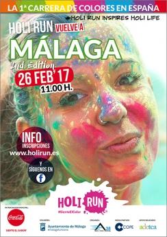 Cartel Holi Run Málaga