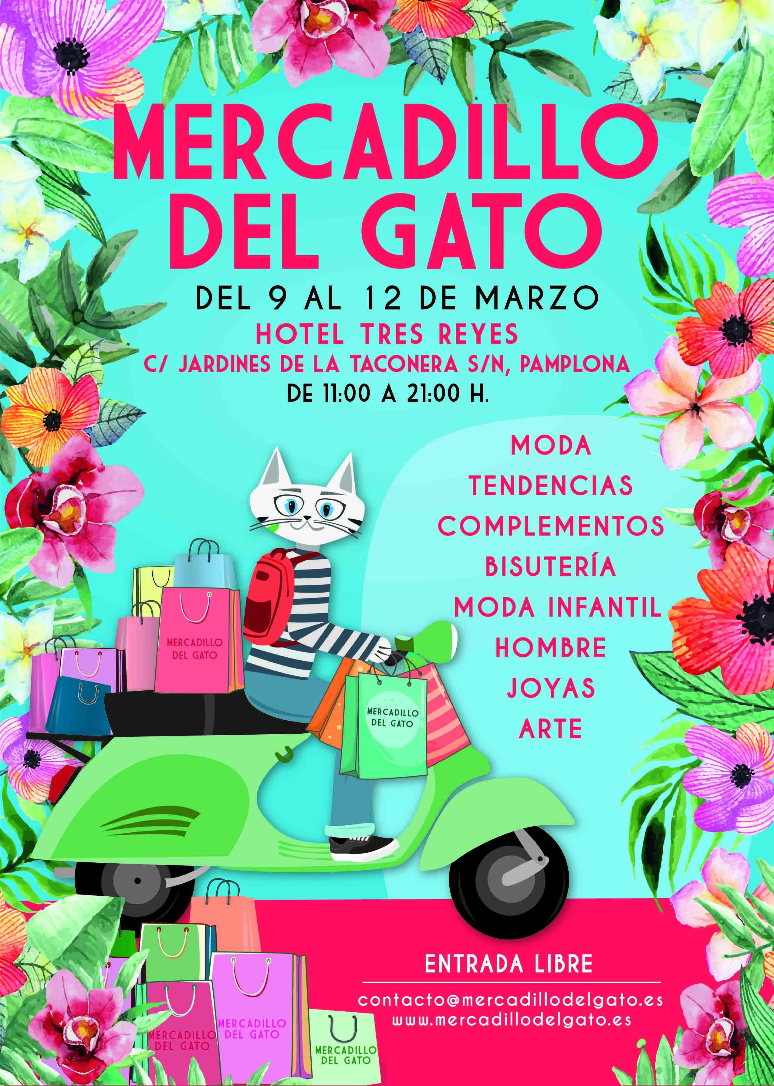 El esperado Mercadillo del Gato llega por primera vez a Pamplona
