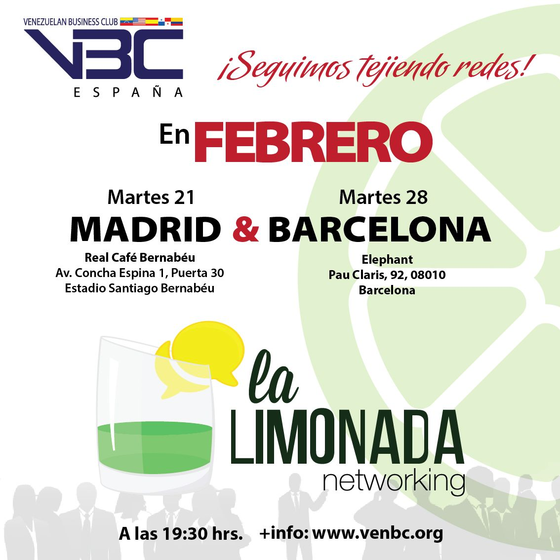 El Venezuelan Business Club invita a La LimonadaVBC en Madrid y Barcelona