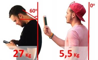 POPSICASE ayuda a mantener la cabeza erguida y una posición sana.