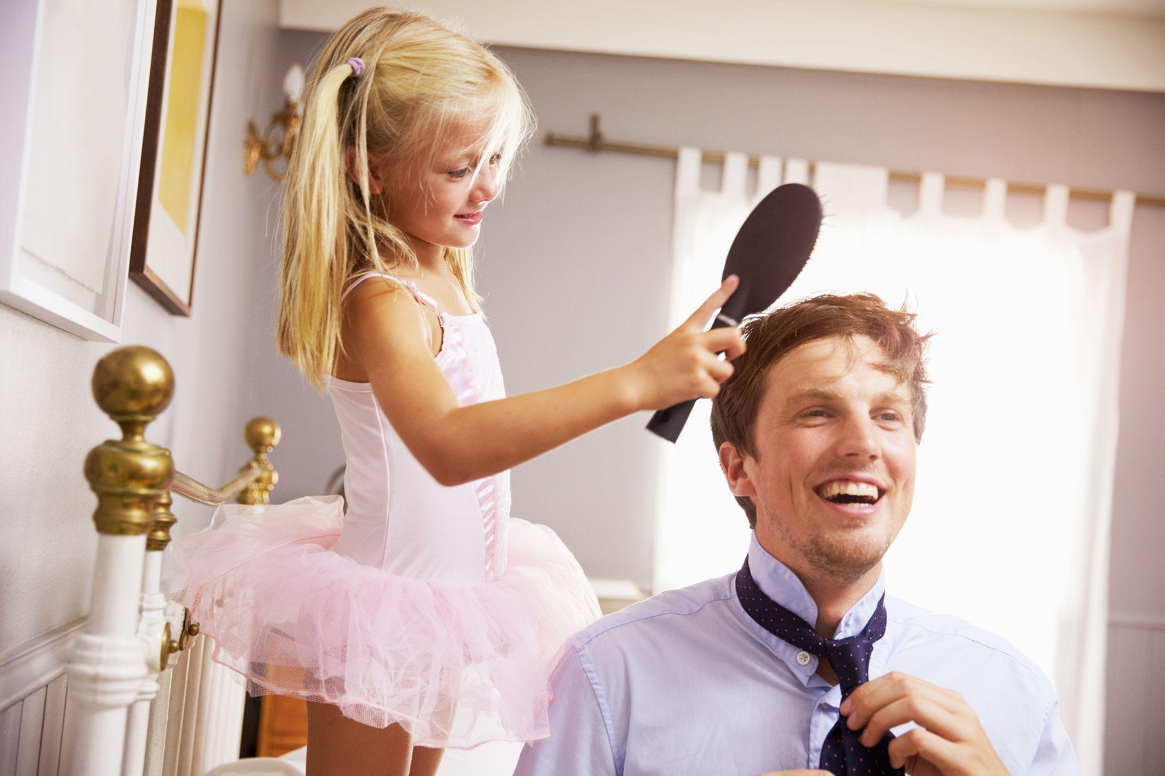 Regalar un pelo fuerte al mejor padre del mundo