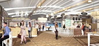 Vista 3D del pasillo central