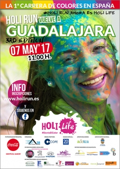 Cartel Holi Run Guadalajara 2017