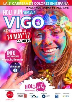 Cartel Holi Run Vigo 2017