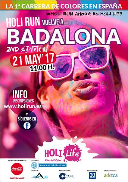 Fotografia Cartel Holi Run Badalona