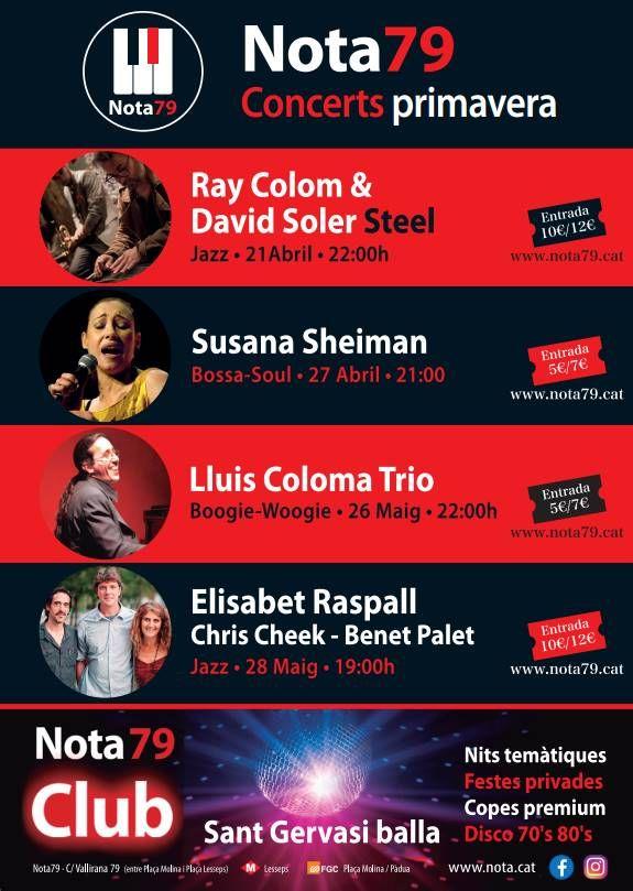 Nota Club Barcelona presenta el calendario de conciertos de la sala